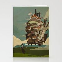 castle Stationery Cards featuring Moving Castle by Danny Haas