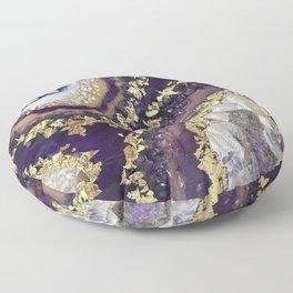 Geode Resin Painting Floor Pillow