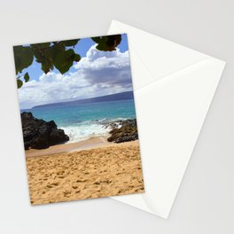 pa'ako beach (secret cove) Stationery Cards