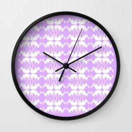 Oh, deer! in lilac purple Wall Clock