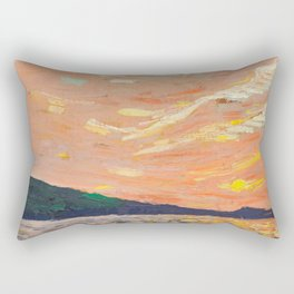 Tom Thomson - Smoke Lake - Canada, Canadian Oil Painting - Group of Seven Rectangular Pillow