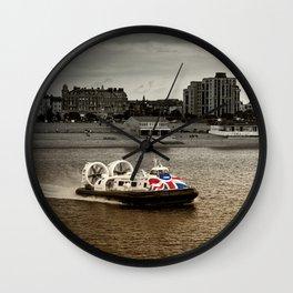 Speeding cross the Solent  Wall Clock