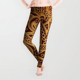 Gold Pattern Leggings