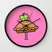 Apple Pie Wall Clock