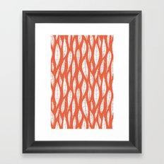 Quail Feathers (Poppy) Framed Art Print