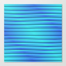 Two Color 3D Slats Canvas Print