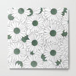 Daisy Mint Metal Print