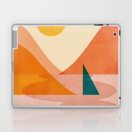 Abstraction_Lake_Sunset Laptop & iPad Skin