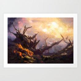 Mount Saint Helens Stratovolcano in Washington State Art Print