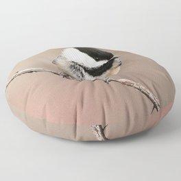 Chickadee #2 Floor Pillow