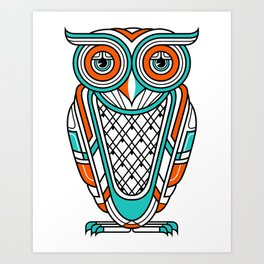 Art Deco Owl Art Print