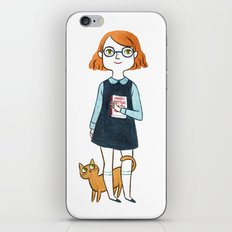 A girl and her cat iPhone & iPod Skin