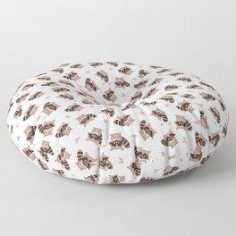 Pink Raccoon Valentine's  Floor Pillow
