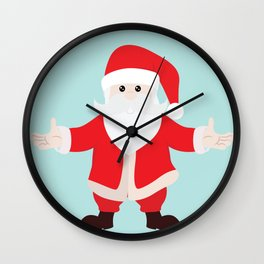 Christmas Santa Claus is Coming to Hug You Wall Clock