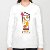 vegetable Long Sleeve T-shirts featuring Vegetable smoothie by olillia