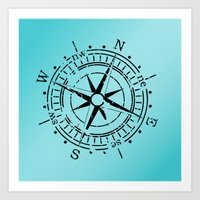 nautical Art Prints featuring Nautical  by gypsykissphotography