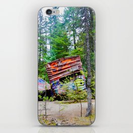 whistler train wreck, 2017 iPhone Skin