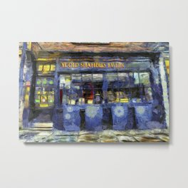 Ye Old Shambles Tavern York Art Metal Print