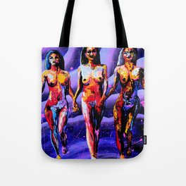 Three Girlfriends Remix Tote Bag