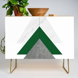 Marble Green Concrete Arrows Collage Credenza