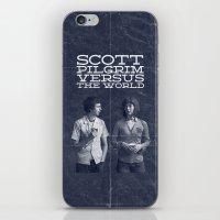 scott pilgrim iPhone & iPod Skins featuring Scott Pilgrim Vs The World by Bill Pyle