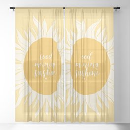 Good Morning Sunshine Sheer Curtain