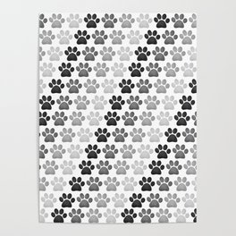 Paw Prints Pattern Poster
