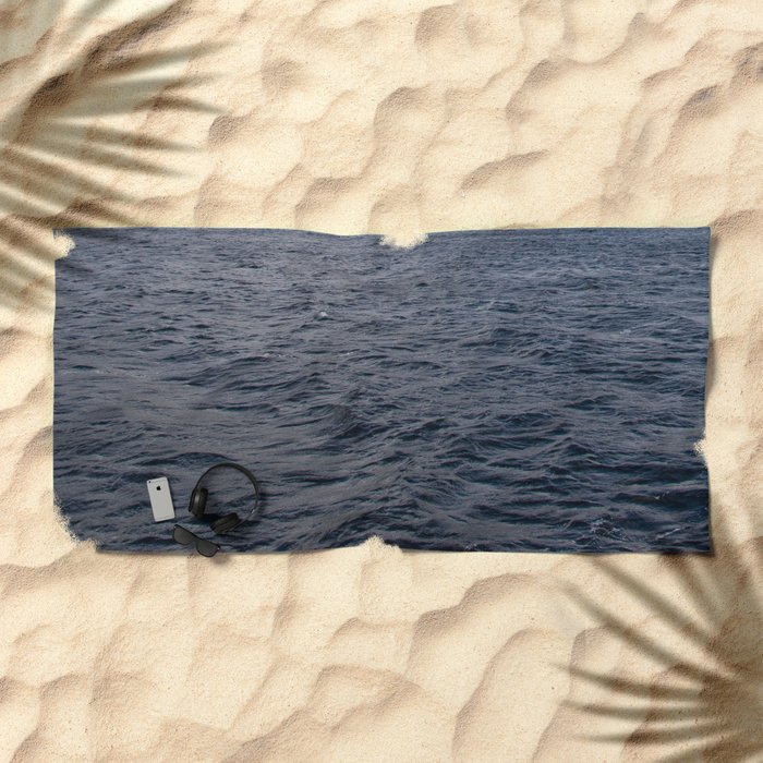 Wild waves in Loch Ness Beach Towel