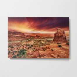 Arches at Sunset Metal Print