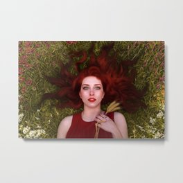 Bread and Roses Metal Print