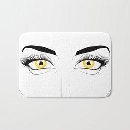 Woman with Golden Eyes Bath Mat