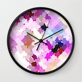 shattered colors Wall Clock