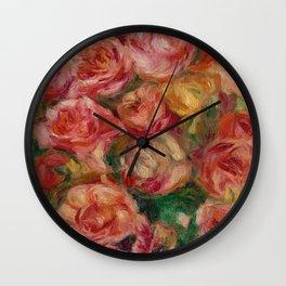Pierre Auguste Renoir Jete  De Roses 1915 Wall Clock