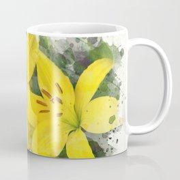 Lily Watercolor Art Coffee Mug