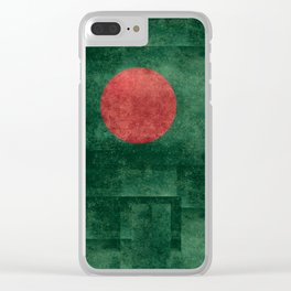 Flag of Bangladesh, Vintage Retro style Clear iPhone Case