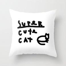super cute cat Throw Pillow