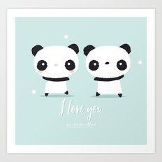 Panda in love  Art Print