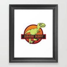 Jurassic Puppy Framed Art Print