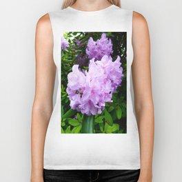 Purple Bloom Biker Tank