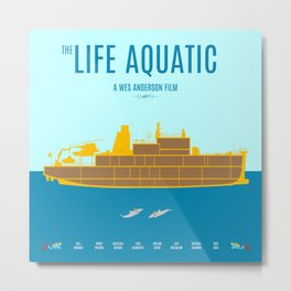 The Life Aquatic - Alternative Movie Poster Metal Print
