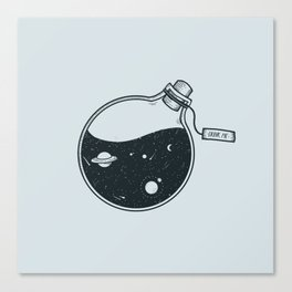 Drink away the universe Canvas Print