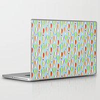 hot air balloons Laptop & iPad Skins featuring Hot Air Balloons by Jessica Draws