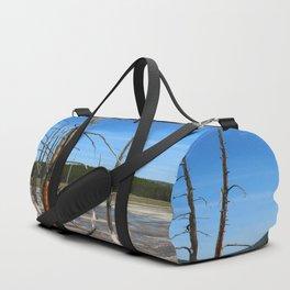 Lodgepole Pines In Geyser Basin Duffle Bag