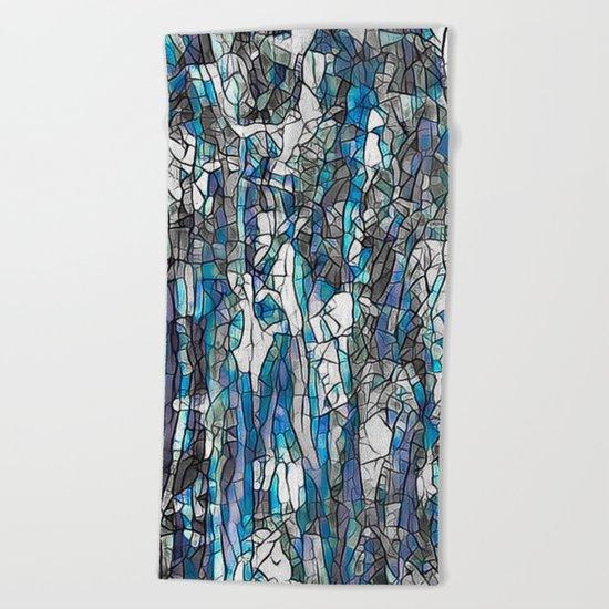 Abstract blue 2 Beach Towel