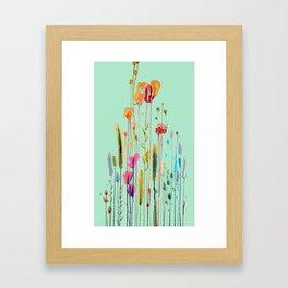 verte campagne Framed Art Print