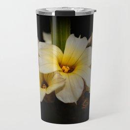 Yellow Mexican Satin Flowers Travel Mug