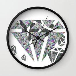 Dead diamonds Wall Clock