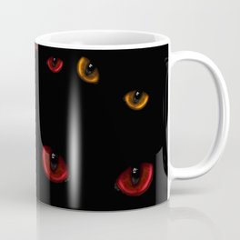 A lot of dangerous wild cat eyes Coffee Mug