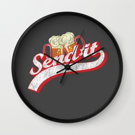 Day Drinking Shirt Send It Beer Lover Wall Clock