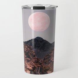 Road Red Moon Travel Mug
